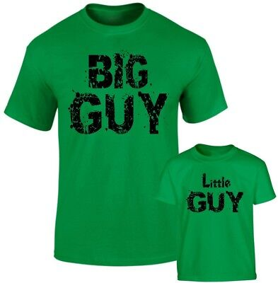 Big Guy Little Guy Fathers Dad Son Daddy Daughter Family Matching T shirts