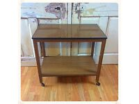Retro vintage serving trolley on castors