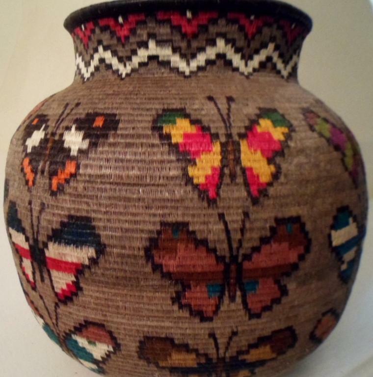 Wounaan Embera Woven Classic Design Basket-Panama 21031704mm