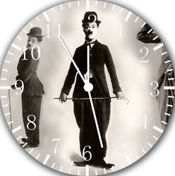 Funny Charlie Chaplin Frameless Borderless Wall Clock For Gifts or Decor E106