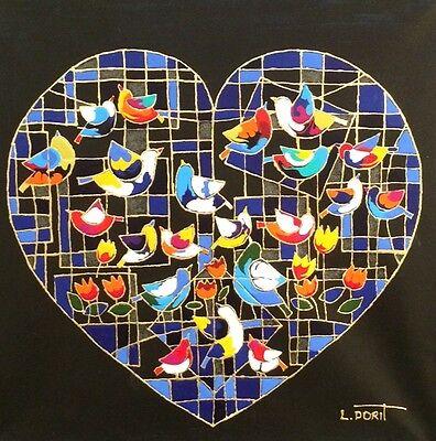 Israeli Art - Dorit Levi Original Oil on Linen + Free serigraph on papaer