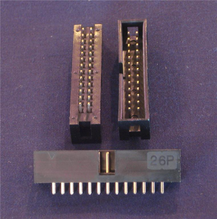 26 Pin Shrouded Header IDC Male ( Qty 20 ) *** NEW ***
