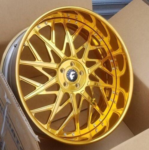 "26"" Forgiato (all Gold) Blocco 5x5 Caprice Impala Donk Cadillac Buick"