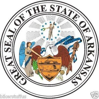 ARKANSAS STATE SEAL BUMPER STICKER TOOLBOX (Arkansas Seal)