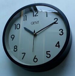 Vintage Black Wall Clock GENT Made in England