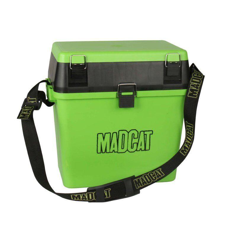 MADCAT Sitzkiepe, Angelbox Gerätekoffer Wallerbox Angelkasten Tacklebox
