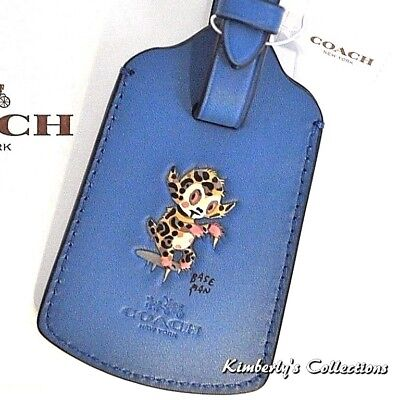 COACH Luggage Bag Baseman Buster Tag Blue Limited Edition Le Fauve Travel NWT