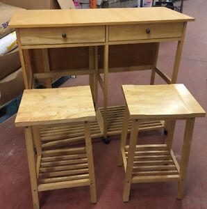 Island with 2 stools