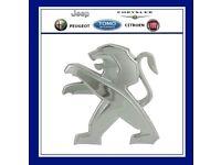 Peugeot 3008 Front Bonnet Grille Chrome Lion Logo Badge New Genuine 7810X5