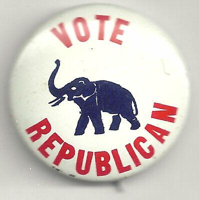 Vintage Political Pin VOTE REPUBLICAN Pin Elephant Button