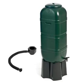 Slim 100 Litre Water Butt Storage Tank Tub With Stand Downpipe Connector Kit