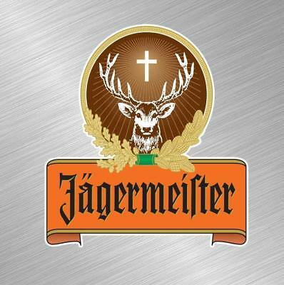 Jagermesiter Vinyl Decal Sticker Alcohol Sign Bar Dring Jager Bomb Liquour Alcohol Vinyl Decal Sticker