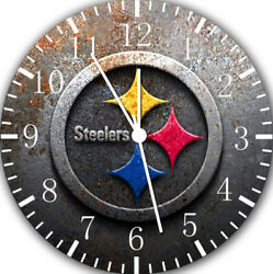 Pittsburgh Steelers Frameless Borderless Wall Clock Nice For Gifts or Decor X45