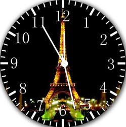 Eiffel Tower Frameless Borderless Wall Clock For Gifts or Home Decor E100