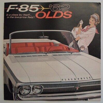 OLDSMOBILE F-85 orig 1962 USA Mkt Sales Brochure - Sedan Convertible Cutlass etc