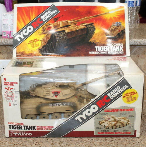 TYCO TIGER TANK MILITARY RC WWII TANK 1/16 SCALE BOXED NEW OPEN BOX