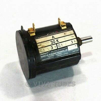 Vintage Helipot Model A Precision Potentiometer 20000 Ohm Pot 20k 3