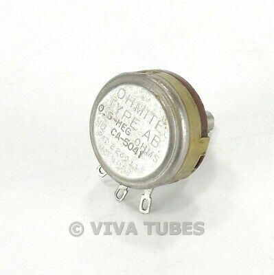 Vintage Ohmite Ca-5041 Type Ab Potentiometer 0.5 Meg Ohm 500k