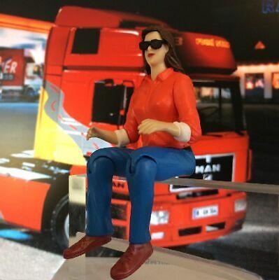 Truck-Figur weiblich m. Sonnenbrille 1:14,5