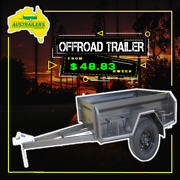 7x4 Camper Trailer with Deep sided Box Trailer Clontarf Redcliffe Area Preview