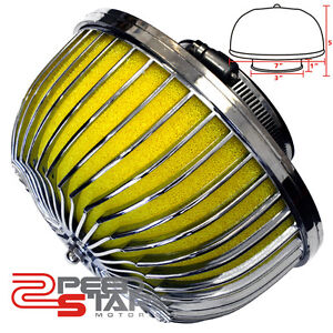 3-MUSHROOM-COLD-AIR-FILTER-INTAKE-YELLOW-WASHABLE-COTTON-7-FILTER-FOR-MOST-CAR