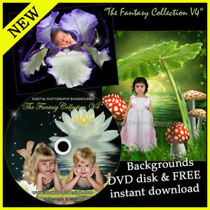 DIGITAL-BACKGROUNDS-BABY-BACKDROPS-PHOTO-PROPS-GREEN-SCREEN-FLOWERS-FAIRY-KIDS