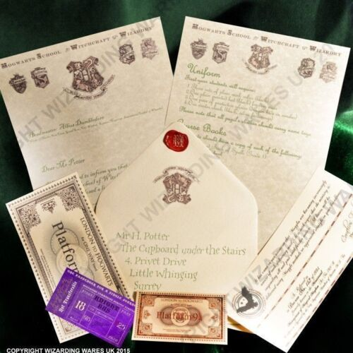 Acceptance Letter Harry Potter Hogwarts gift for HP fans PERSONALISED!!!!