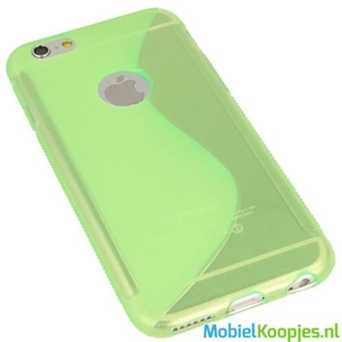 iPhone 6S Silicon Hoesje - S-Line Green