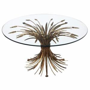 Iconic Gold Sheaf of Wheat Dining Table - Vintage Mid Century Modern or Hollywood Regency- excellent condition