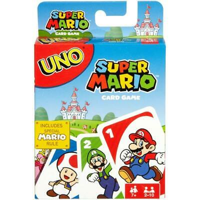 UNO: Super Mario - Card Game GIFT FOR KIDS NEW FREE SHIPPING