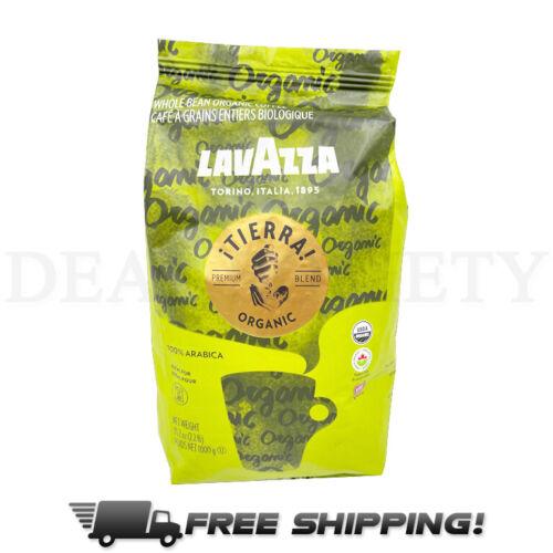 Lavazza Organic ¡Tierra! Whole Bean Coffee Blend 100% ArabicaLight Roast 2.2 LB