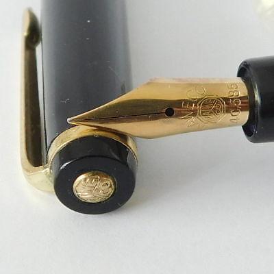 Vintage KAWECO 37 Black and Gold Trim Fountain pen EF Gold Nib Germany 1960's