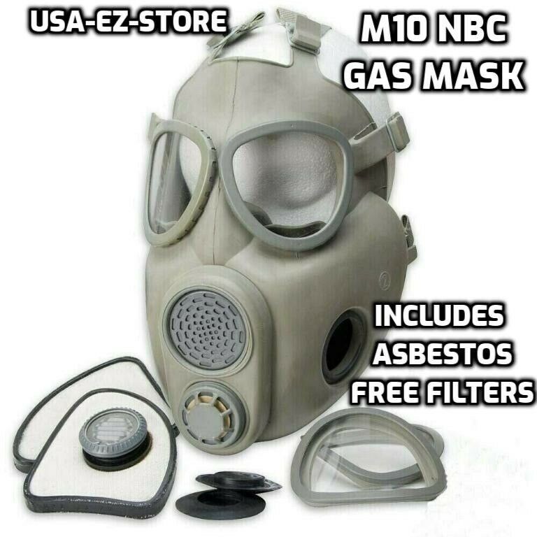 🔥Premium Gas Mask Czech Military M10 NBC Respirator Filters Full Face Coverage