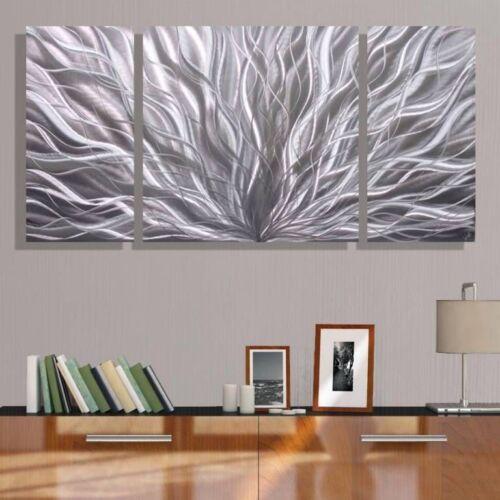 Statements2000 3D Metal Wall Art Modern Abstract Etched Silver Decor Jon Allen