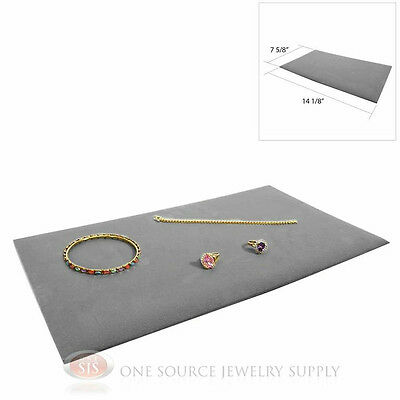 1 Gray Plush Soft Velvet Jewelry Display Counter Display Pads Tray Liners