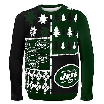 NFL Football 2014 Logo Ugly Christmas Sweater Busy Block Style - Pick Your Team!