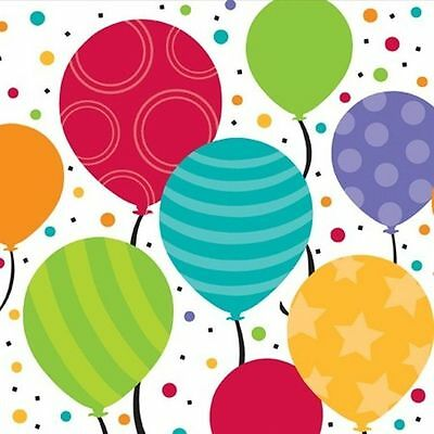 - Bright Shimmering Balloons Birthday Party Supplies Beverage or Lunch Napkins