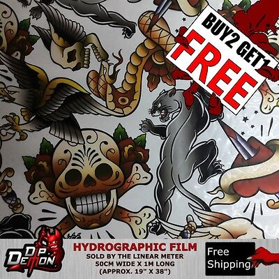 Lm Large Hardy Skulls Hydrographic Water Transfer Film Hydro Dipping Dip Demon