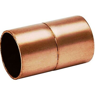 Bag Of 25 34 Copper Coupling With Rolled Stop Cxc