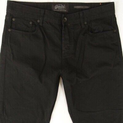 Mens SuperDry COPPERFILL LOOSE Relaxed Black Jeans W36 L36
