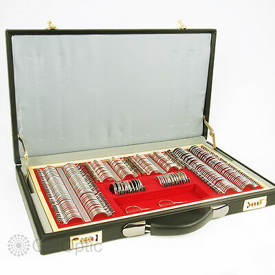 266pcs Metal Rim Trial Lens Set With Leather Case Brand New Ophthalmic Apture