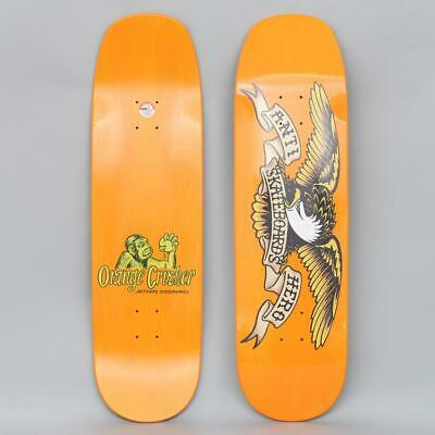 "Anti Hero Skateboard Deck Shaped Eagle Orange Crusher 9.1"" Overspray Antihero"