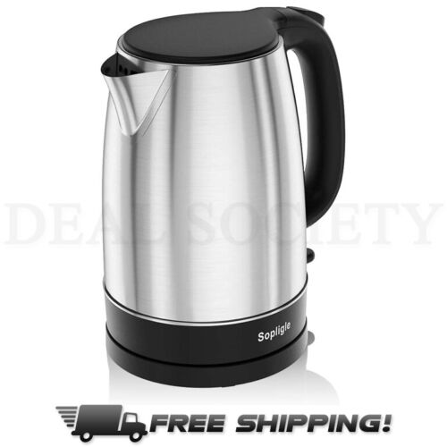 Electric Kettle Stainless Steel BPA-Free Hot Water Boiler, Fast Boiling, 1.7L