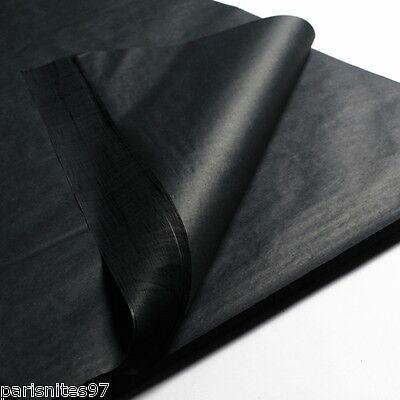 PREMIUM BLACK TISSUE PAPER~20x30~24 SHEETS~BLACK GIFT WRAP TISSUE PAPER-POM POMS - Black Gift Wrap