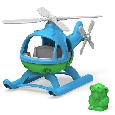 Helikopter,  Hubschrauber v. GreenToys mit blauer Kabine, Green Toys, (66077 NEU