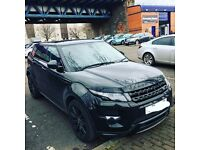 Prestige car hire Range Rover Evoque
