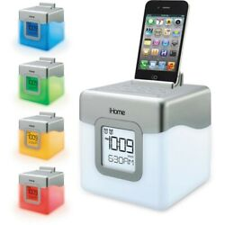 iHome IHM28WC Led 5 Color Changing Alarm Clock FM Radio With USB Charging