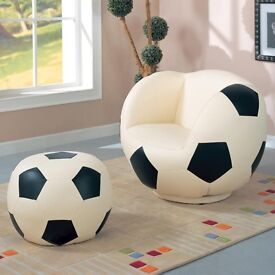 Kids Football Chair and Ottoman