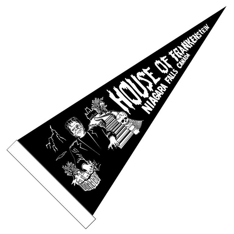 House of Frankenstein Wax Museum Vintage Style Reproduction Pennant