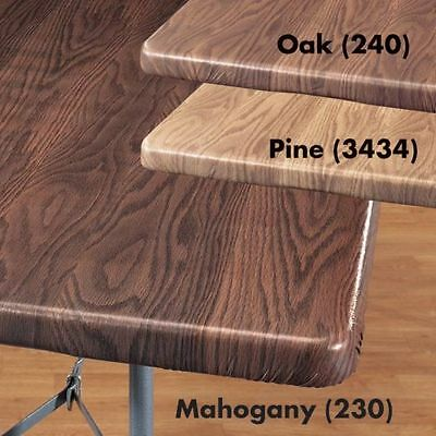 FITTED Vinyl Wood Grain Card Table Cover Banquet 36
